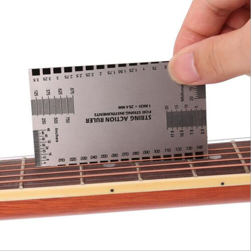 New String Act Gauge Rulers Guide Setup Guitar Bass Electric Measuring Luthier