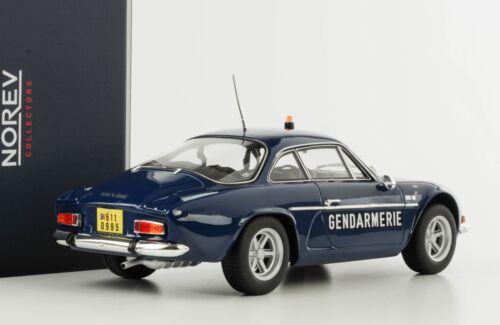 RENAULT Alpine 1600s a110 1971 gendarmeria BLU 1:18 NOREV 185301