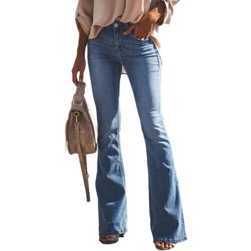 Jeans Women Flare Denim Jeans Bell Bottom Wide Leg Pants