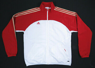 Adidas Predator Clima365 Clima Cool White Red Gold 3 Stripe Track Jacket XL NWOT | eBay