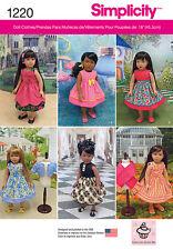 "Simplicity Pattern 1711 Wardrobe fits 18 inch dolls 18/"" dresses skits leggings"