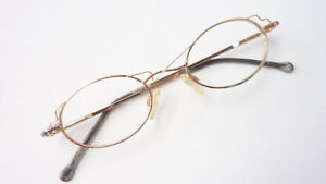 Augenoptik Brille Fassung Damen Klein Oval Ausgefallenes Design Metall Gestell Grösse M