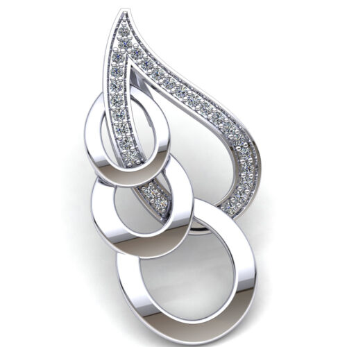 Details about  /Natural 0.33ct Round Cut Diamond Ladies Loop Fancy For Her Pendant 10K Gold