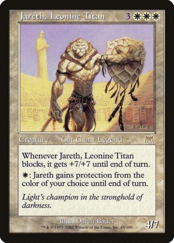 Jareth Leonine Titan Onslaught HEAVILY PLD White Rare MAGIC MTG CARD ABUGames