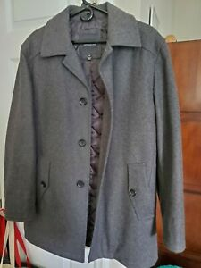 London Fog Wool Coat Men S Size Medium Ebay