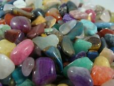 Tumbled and Polished Gemstones Xtra Small (Size #2) - Bright Colors - 1 LB