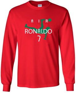 online store 14d48 96913 Details about SALE LONG SLEEVE Shirt Cristiano Ronaldo Portugal Juventus  Red ADULT 2XL