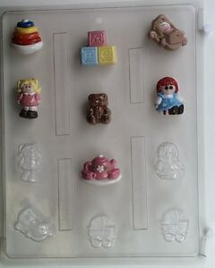 toys bite size chocolate candy mold baby shower favor cup cake toppers