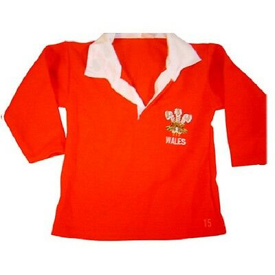 WALES  WELSH RUGBY SHIRT TOP  BABY KIDS CHILDRENS 3 months to 3 years  NEW CYMRU