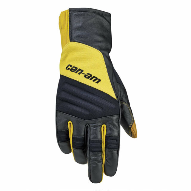 Can Am ATV Mens Adventure Gloves Yellow Medium 2864070610