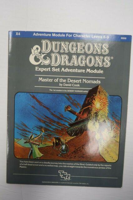 Dungeons & Dragons D&D Expert Adventure Module X4 9068 Master of Desert Nomads