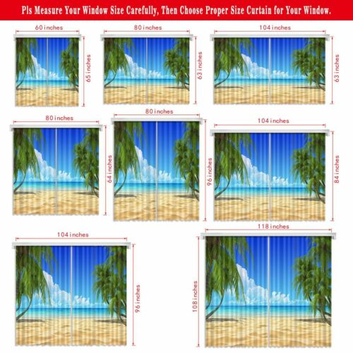 Iceland Sunset Waterfall Scenery 3D Printing Window Curtains Blockout Fabric NEW