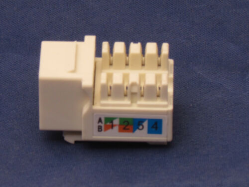 50 X Pcs lot Beige Keystone Jack CAT6 Network Ethernet 110 Punch Down 8P8C RJ45