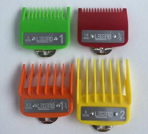 Wahl-Babyliss-Pro-4pcs-premium-Clipper-guards-attachments-Mix-Colour-UK