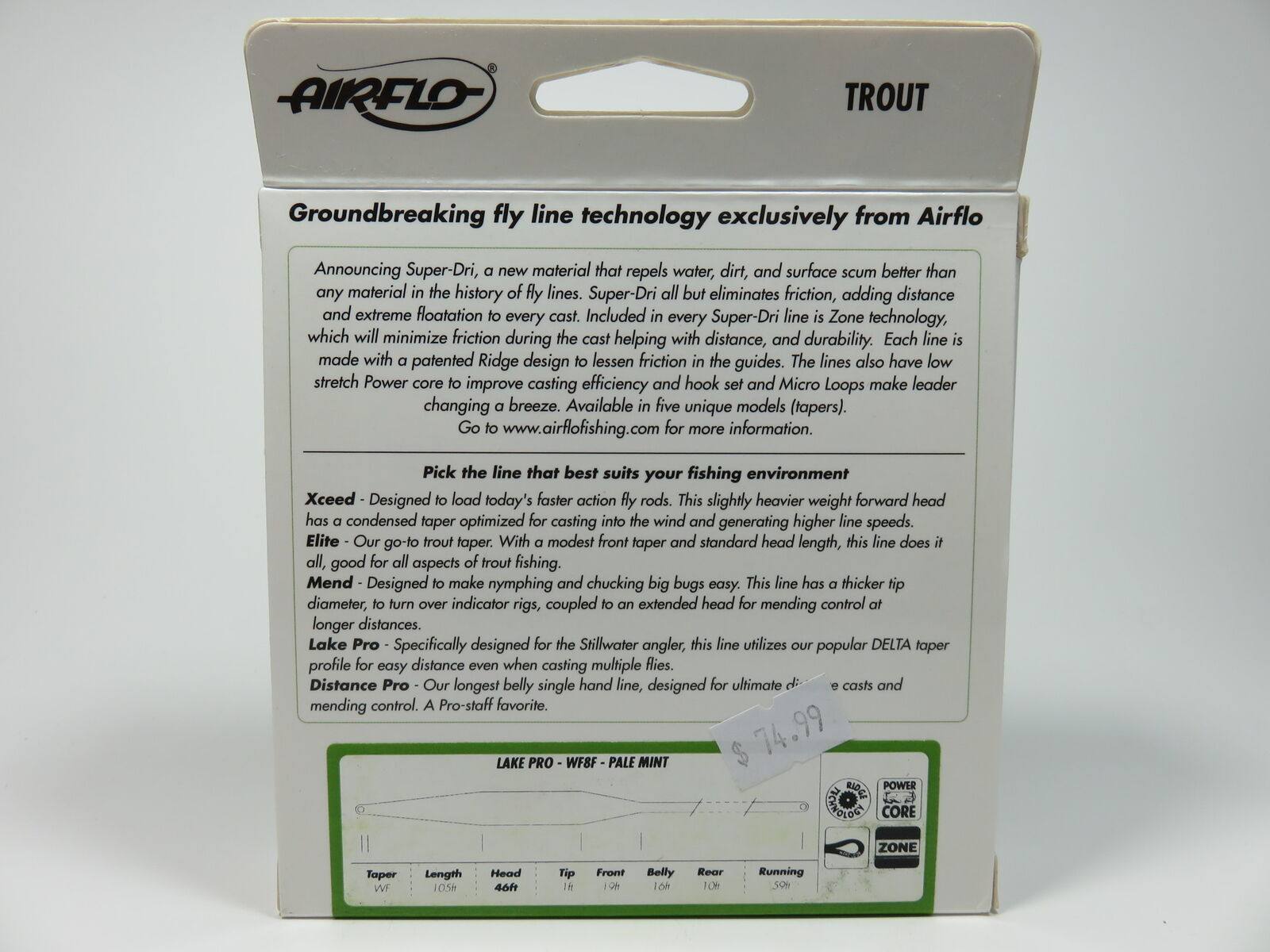 Airflo SuperDri Trout Lake Pro Fly Fly Fly Line  WF8F, Pale Mint 623745