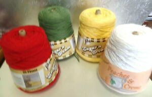 Details about YARN   4 PLY  14 OZ  PEACHES N CREAM   COTTON  4 COLORS TO  CHOOSE FROM