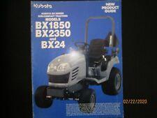 Kubota Models Bx1850 Bx2350 Bx24 Sub Compact Tractors Product Guide Brochure
