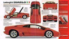 Lamborghini Diablo Spec Sheetbrochurecatalog1991 Fits Lamborghini Jalpa
