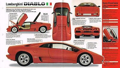 1991 Lamborghini Diablo Original Sales Brochure