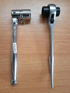 Heavy-Duty-Scaffolding-Tools-2-in-1Steel-Spanner-7-16-21mm-10-039-039-Ratchet-1921mm