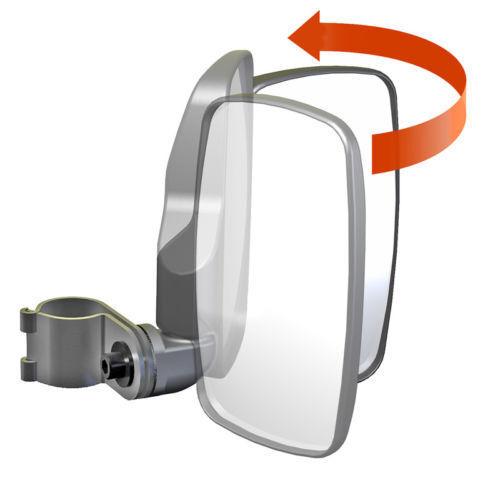 "Redesigned Seizmik UTV Break-Away Side Mirrors 1.875/""-Kawasaki Mule PRO-FXT DXT"