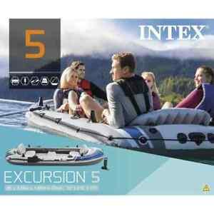 Intex Set Gommone con Remi e Pompa Excursion 5 68325NP J6P4