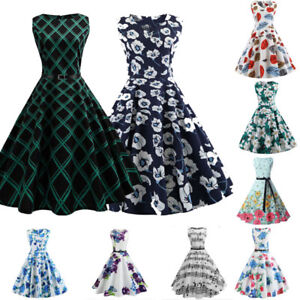 New-Women-039-s-Vintage-50s-60s-Rockabilly-Pinup-Housewife-Party-Swing-Dress