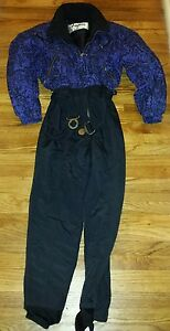 Fera-Skiwear-Snowsuit-Women-039-s-Size-10-Excellent-Condition