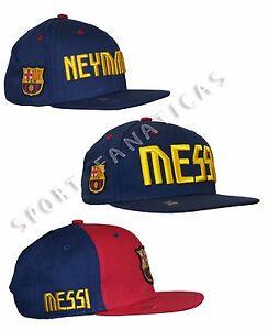 3e1228b6ac214 FC Barcelona Adults Snapback Hat Cap Lionel MESSI 10 soccer Neymar ...