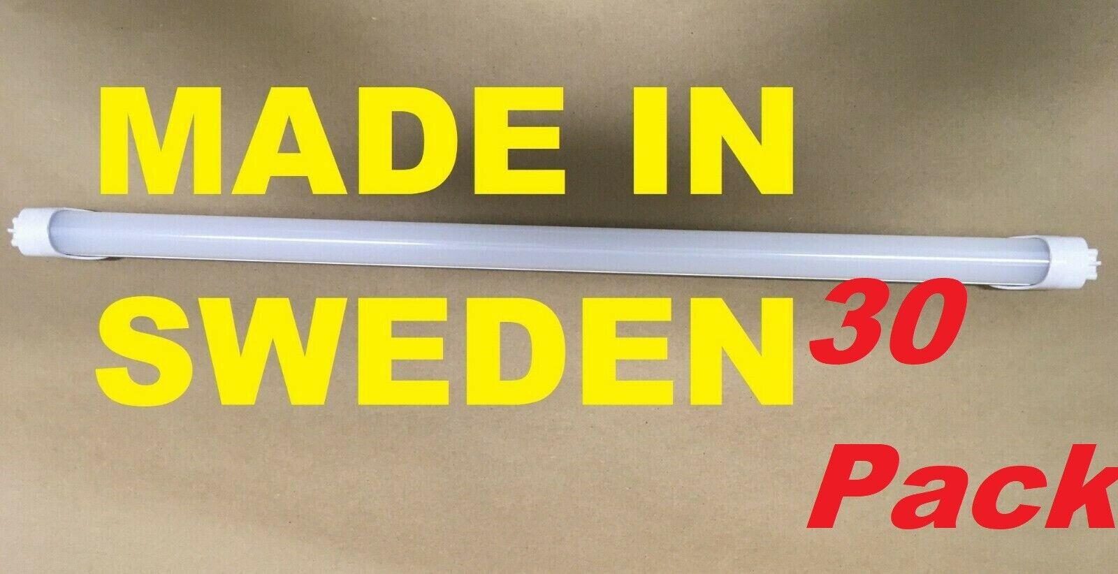 30 pack Aura Light 2FT LED Tube Bulb T8 T12 24  15W 1825 Lumen 5000K Frosted 2'
