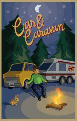 """Original LEGO Art City Car /& Caravan 4435 11/""""x17/"""" Poster"""