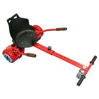 Go Kart Adjustable Holder Stand Seat For 2 Wheels Self Balancing Hoverboard Red