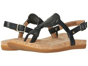 b3c3e353f1c Details about Women's Shoes UGG AYDEN II T-Strap Leather Flat Sandals  1020063 BLACK