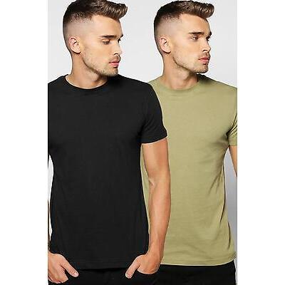 Boohoo Pack De 2 Camisetas para Hombre
