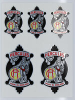 HERCULES Vintage style Head Cycle Bike metallic Stickers