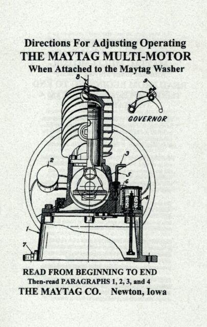 Very Nice Cast Iron Upright Maytag Hit /& Miss Gas Engine Muffler Wringer Washer