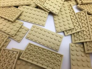 LEGO 3035 - NEW 4X8 Beige Light Brown Plates / 4 Pieces Per Order