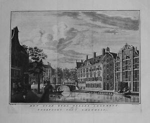 Antique-map-Het-Oude-Zyds-Heeren-Logement-en-de-voorpoort-van-039-t-gasthuis