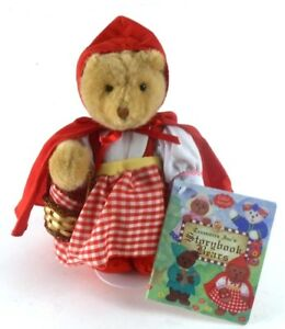 Little-Red-Riding-Hood-Treasure-039-s-Storybook-Bears-w-Coloring-Book-amp-Stand