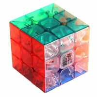Yj Yulong 3x3x3 Transparent Color Stickerless Magic Cube Speed Teaser Gift Toy