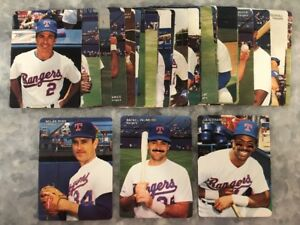 Details About 1990 Mothers Cookies Baseball Set Texas Rangers Nolan Ryan Rafael Palmeiro