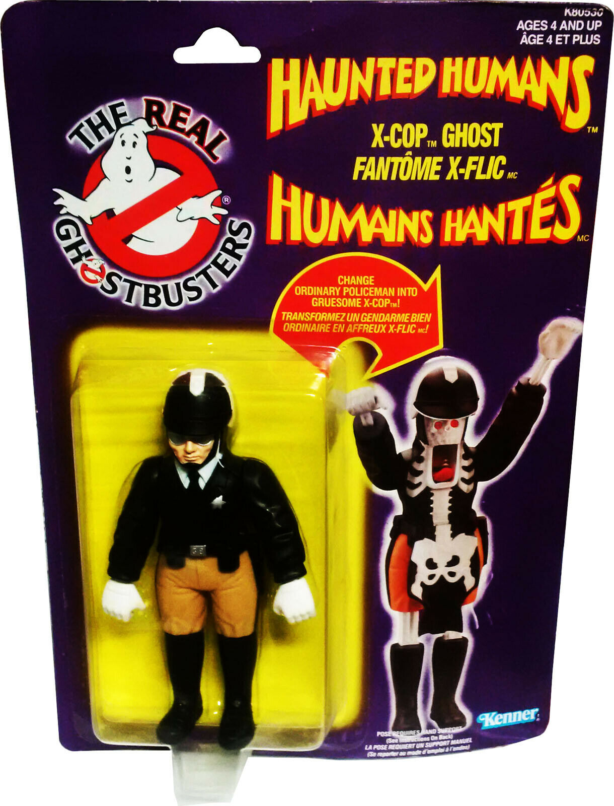 The Real Ghostbusters Haunted Humans X-Cop Ghost, vintage 1986 MOSC