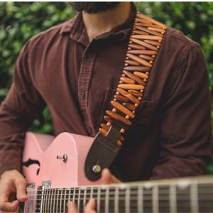 Electric Bass Tigerwood Gordo Guitar StrapBrownCustom PremiumAcoustic