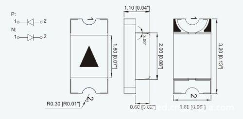 10 Stk SMD 1206 rot leds 1206R ogeled SMD LEDs