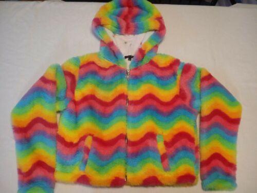 Deliah RARE Dolls Kill Rainbow Hooded Jacket Furry