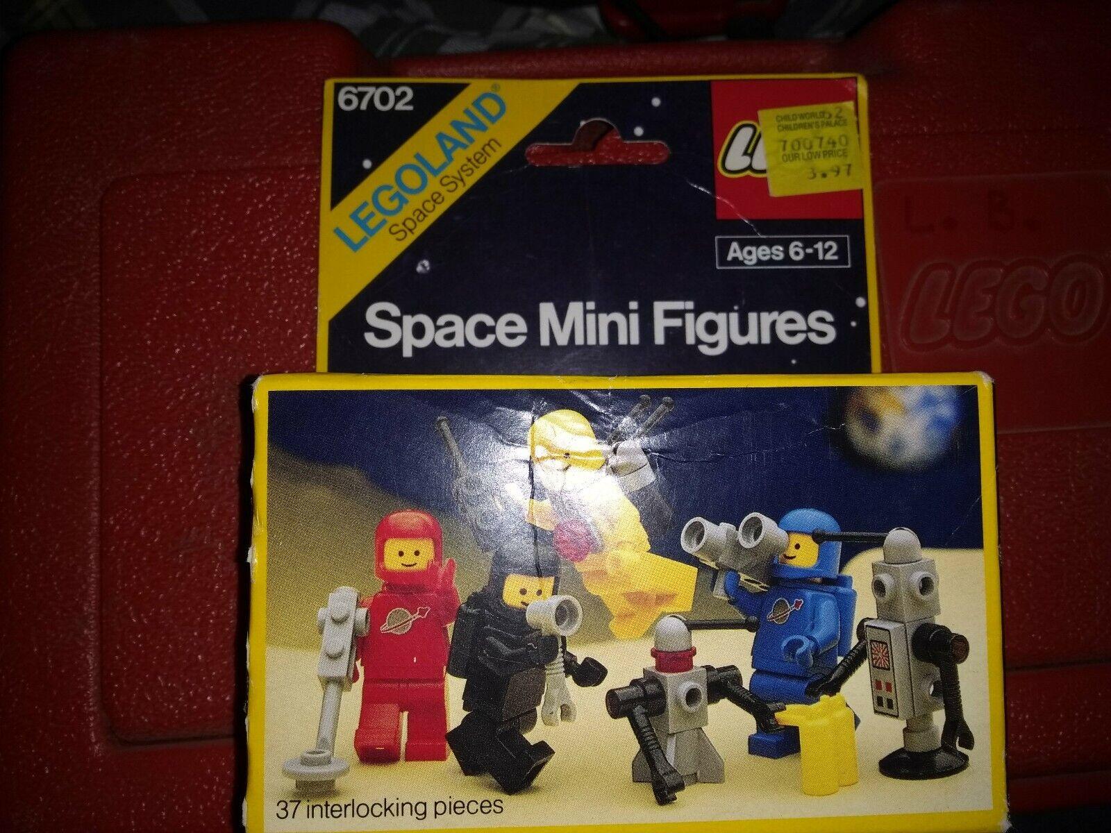 LEGO Legoland Vintage Classic Space  6702  Space Mini-Figures  1986 w  BONUS