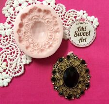 Kendall's Brooch silicone mold fondant cake decorating food soap cupcake topper