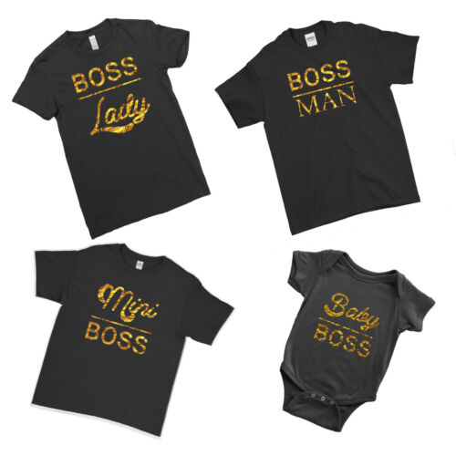 Boss Man Boss Lady Mini Boss Baby Boss Family Matching Couple Team T-Shirt