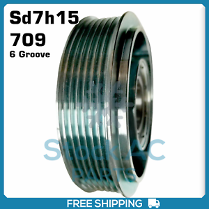 Details about New A/C Compressor Clutch Pulley 6 Groove (Sanden  Sd7h15/708/709)