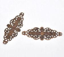 5 X Conectores De Envoltura De Filigrana De Tono Cobre Artesanía fabricación de joyas
